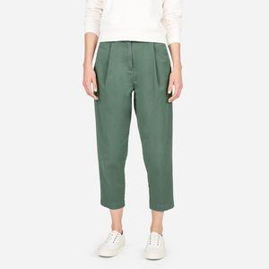Everlane slouchy chino pant in sage green